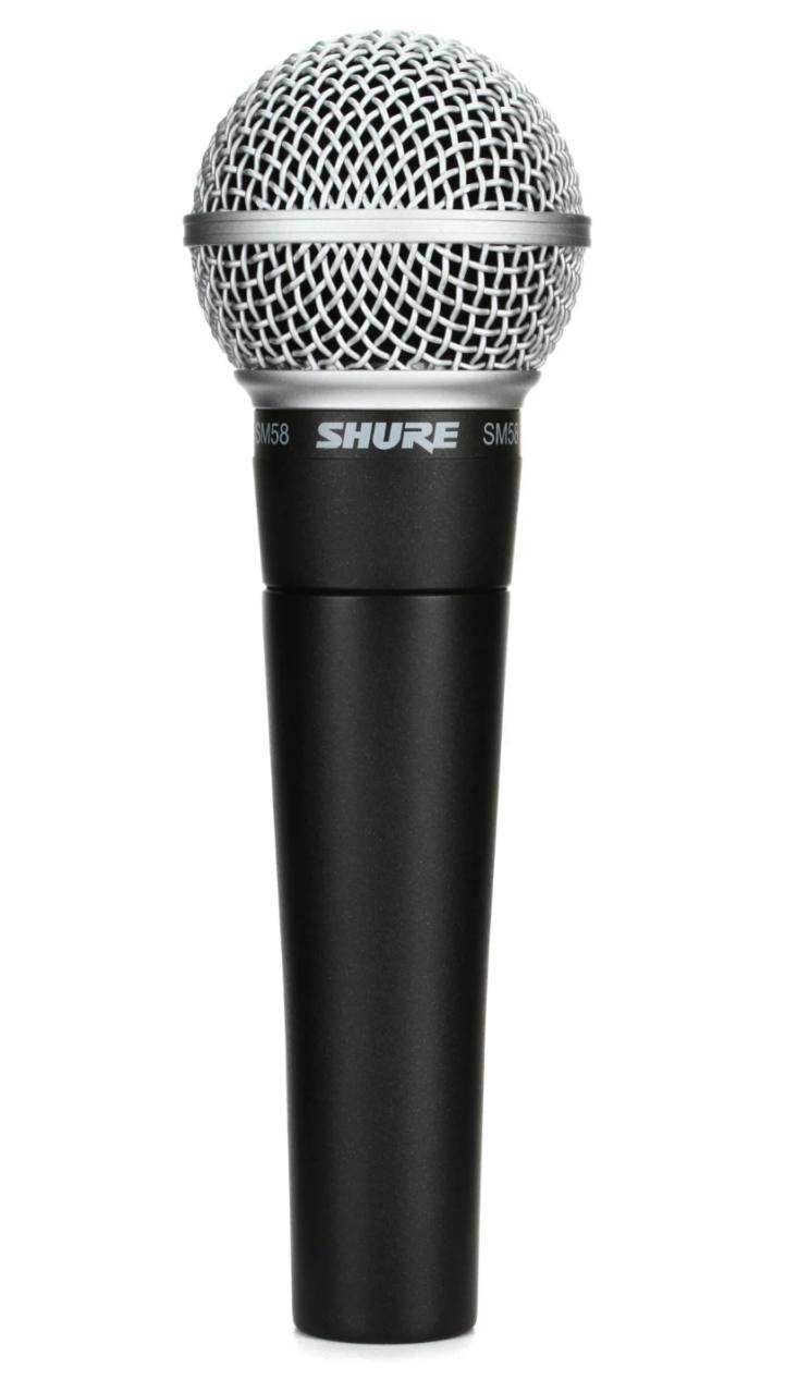 SM58 microphone.